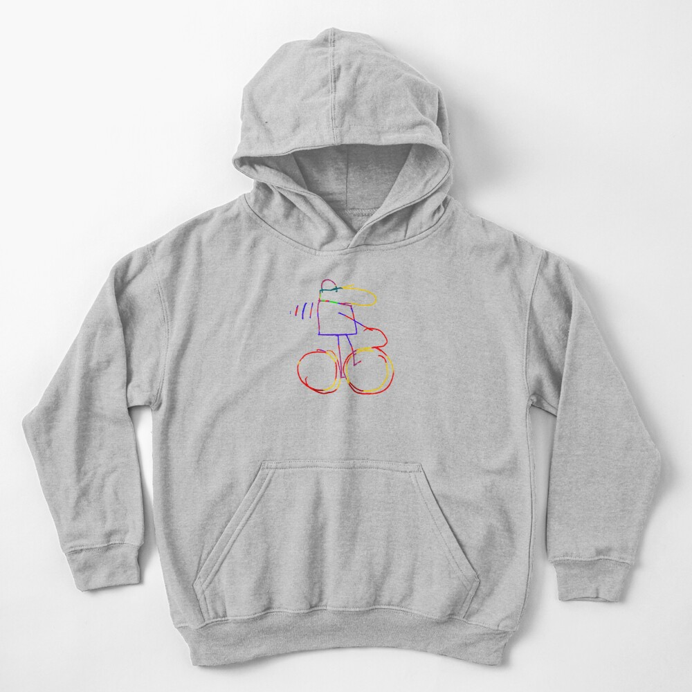 Cycling to You Kids Pullover Hoodie