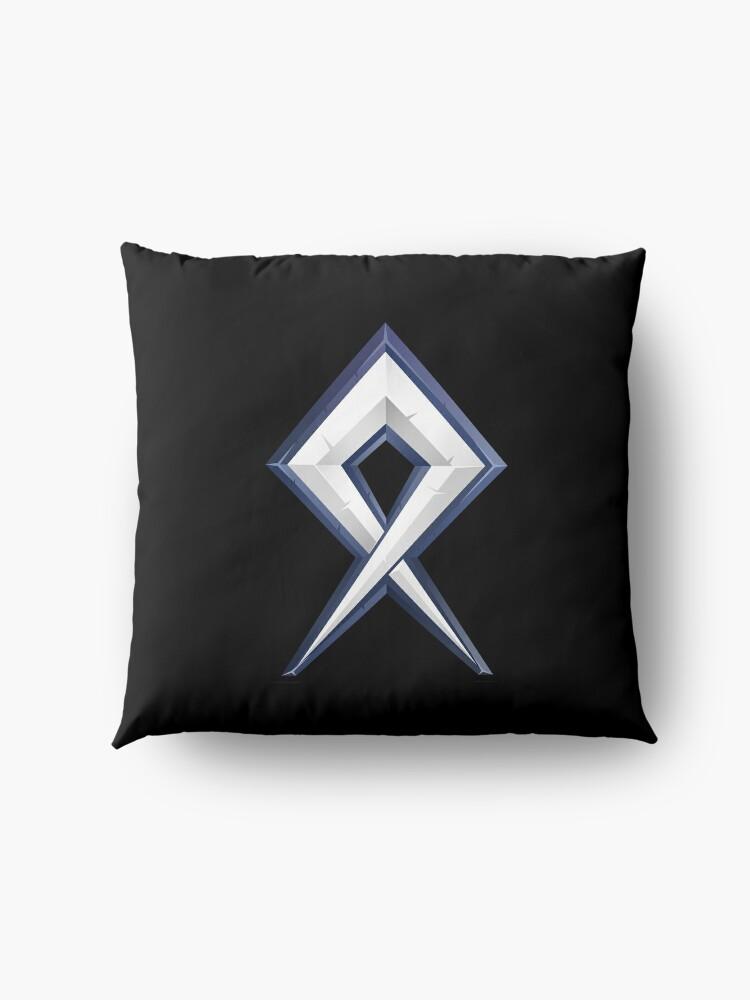 Alternate view of BDcraft Rune Floor Pillow