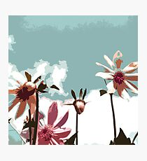 Towering Flowers - Abstract Floral Photographic Print