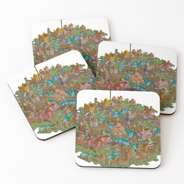 Rollercoaster Tycoon Coasters (Set of 4)