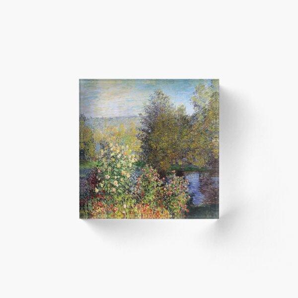 Claude Monet - Corner of the Garden at Montgeron (Coin de jardin à Montgeron) (1877) Acrylic Block