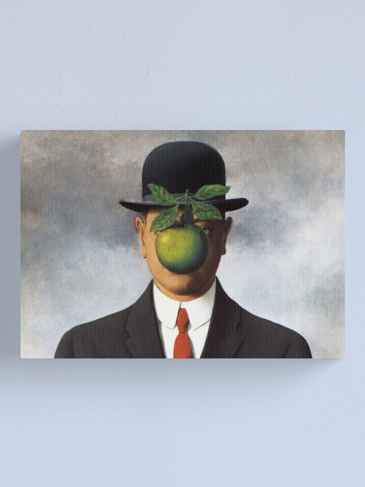 Alternate view of René Magritte - The Son of Man Canvas Print