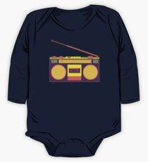 boombox - old cassette - Devices One Piece - Long Sleeve