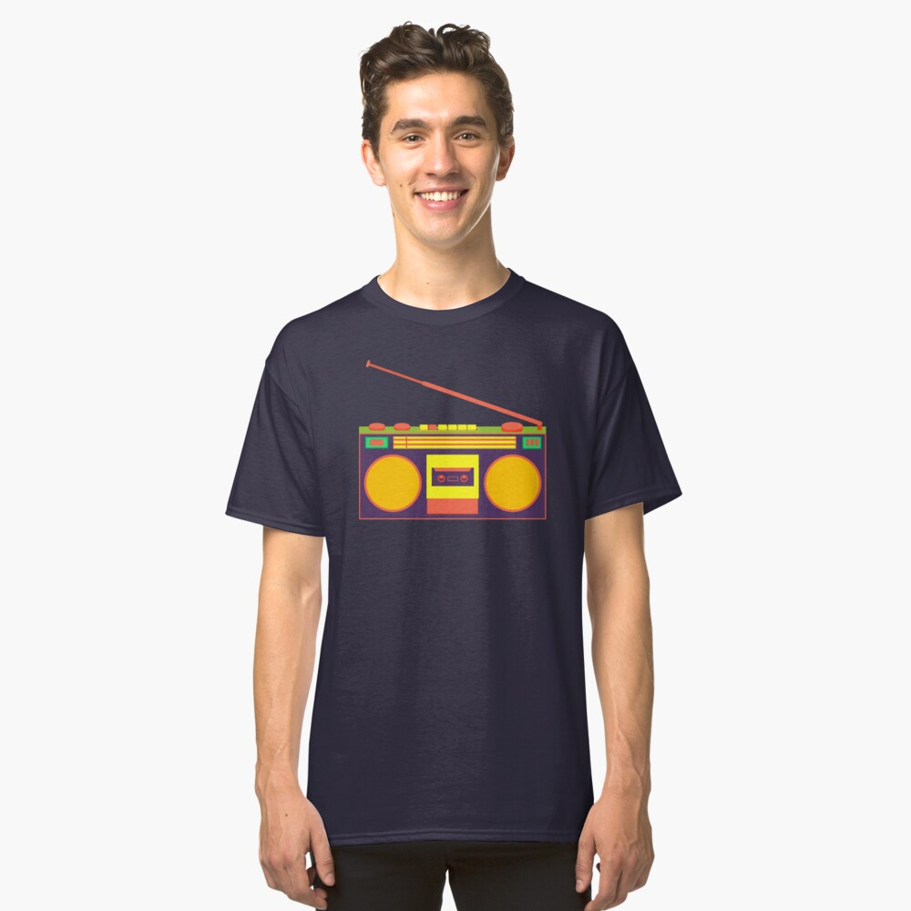 boombox - old cassette - Devices Classic T-Shirt