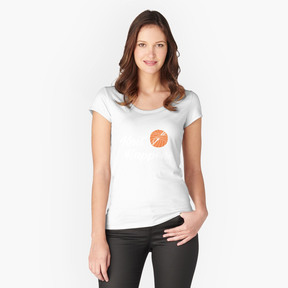 Knit happens Fitted Scoop T-Shirt