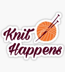 Knit happens Sticker