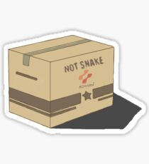 Solid snake box Sticker