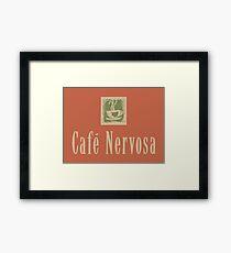 Cafe Nervosa sign – Frasier, Seattle Framed Print