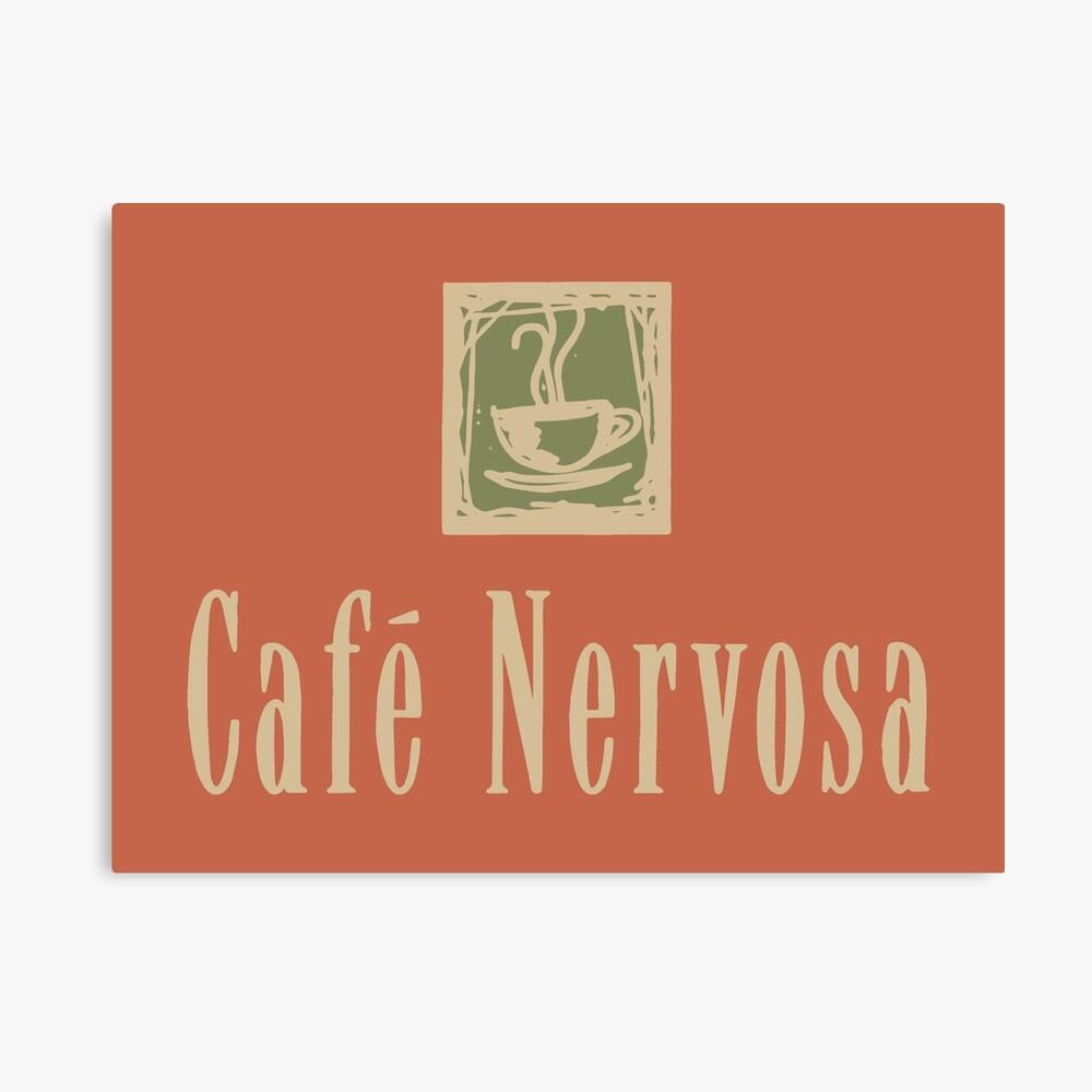 Cafe Nervosa sign – Frasier, Seattle Canvas Print