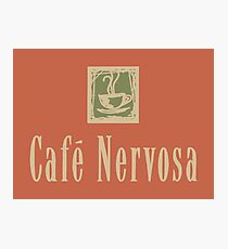 Cafe Nervosa sign – Frasier, Seattle Photographic Print