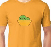 Cute cactus in yellow pot Unisex T-Shirt