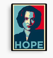 DANA SCULLY HOPE Canvas Print