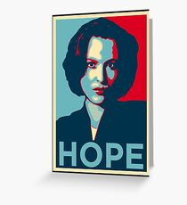 DANA SCULLY HOPE Greeting Card