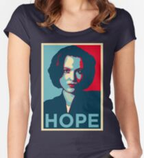 DANA SCULLY HOPE Women's Fitted Scoop T-Shirt