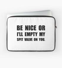 Empty My Spit Valve Laptop Sleeve