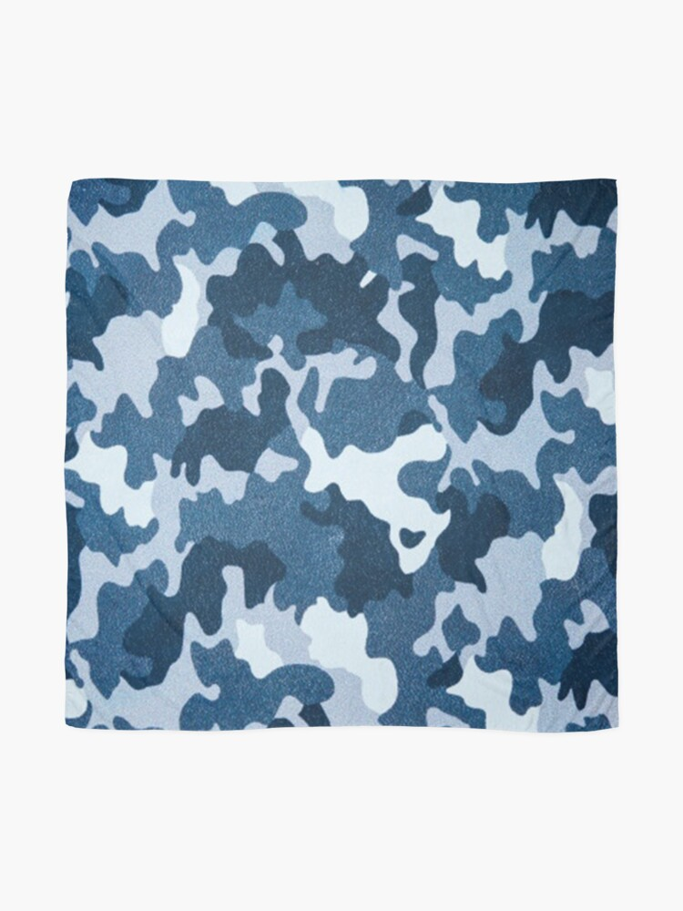 Alternate view of Navy Camouflage pattern Scarf