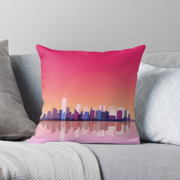 New york city landscape. Ny. Manhattan Throw Pillow