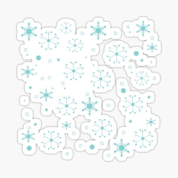 Snowflakes Festive Cozy Winter Sticker