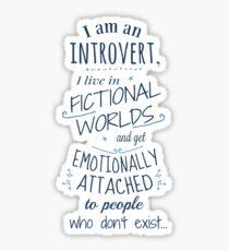 Pegatina mundos introvertidos, ficticios, personajes ficticios