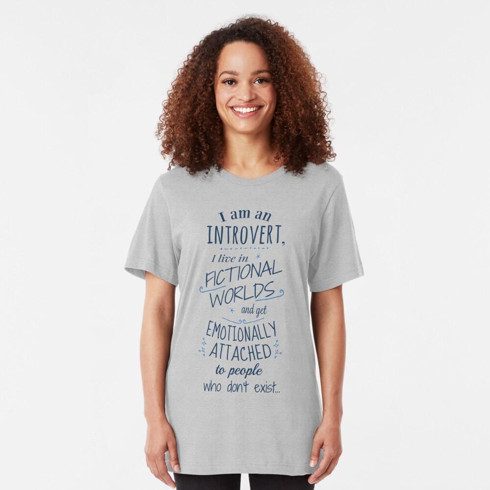 mundos introvertidos, ficticios, personajes ficticios Camiseta ajustada