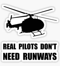 Helicopter Pilot Runways Sticker