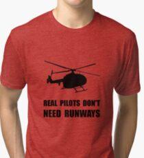 Helicopter Pilot Runways Tri-blend T-Shirt