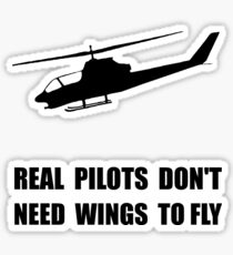 Helicopter Pilot Wings Sticker