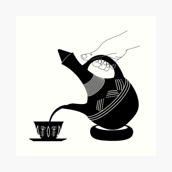 Pouring Jebena 2 Art Print
