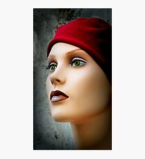 Red Cap, Green Eyes Photographic Print