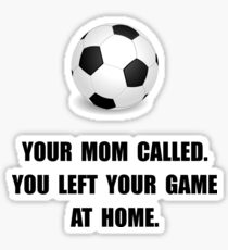 Soccer Game At Home Sticker