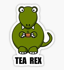 Tea Rex Dinosaur Sticker