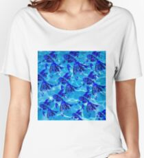 Water & Mandala Fish Women's Relaxed Fit T-Shirt