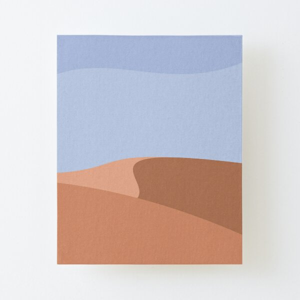 Minimalist Orange Sand Dune Desert Canvas Mounted Print