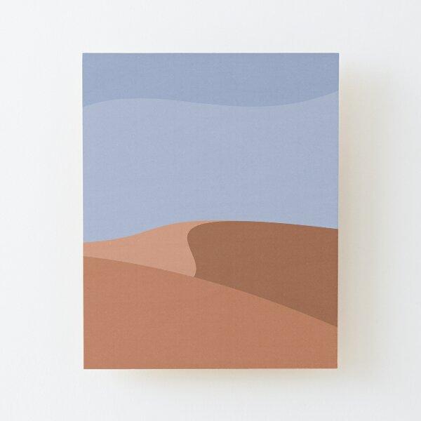 Minimalist Orange Sand Dune Desert Wood Mounted Print