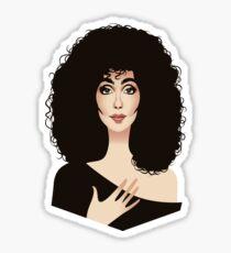 Lady in Black Sticker