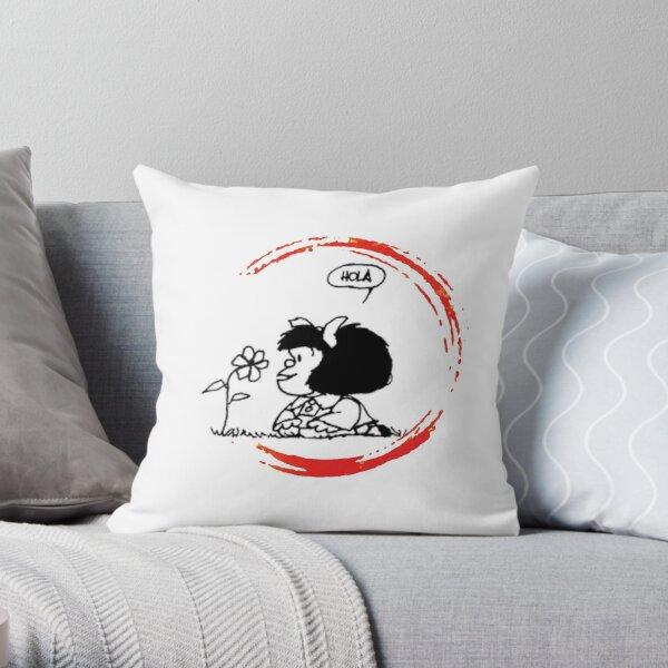 Mafalda hello world! Throw Pillow