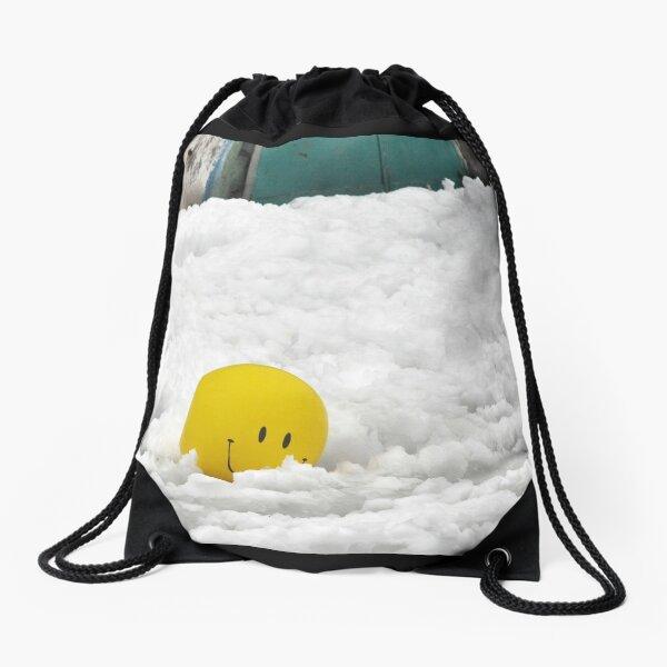 Snow Smiley in Jerusalem Drawstring Bag