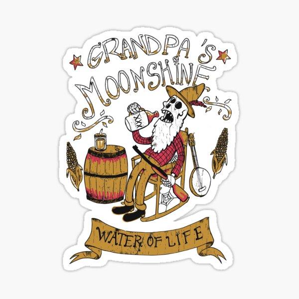 Le moonshine de grand-père Sticker