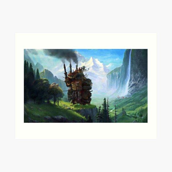 Déménagement esthétique du château en forêt Impression artistique