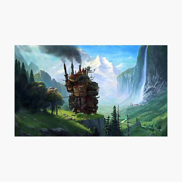 Aesthetics Moving Castle In Forest Photographic Print