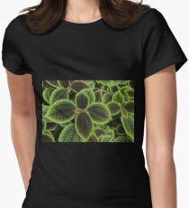 Green Ric Rac Edging Women's Fitted T-Shirt