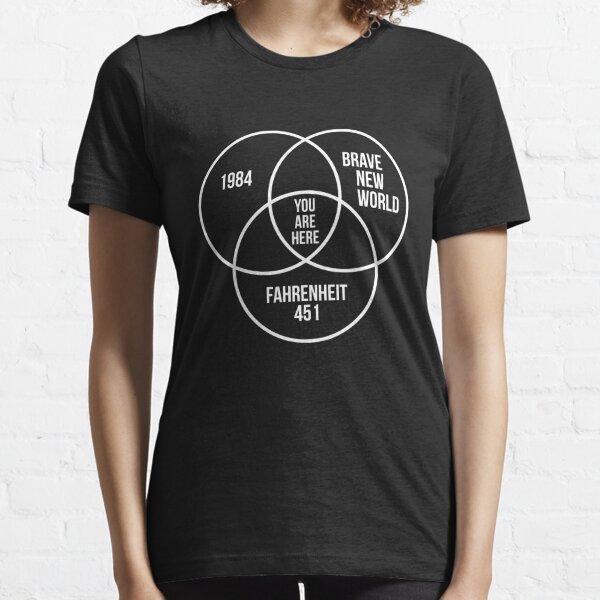 1984 Brave New World Fahrenheit 451 Conspiracy Essential T-Shirt