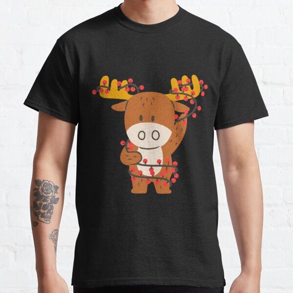 Cute Reindeer on Christmas  Classic T-Shirt
