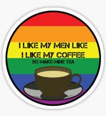 Make Mine Tea - Lesbian Version Sticker