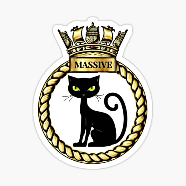 H.M.S MASSIVE Sticker