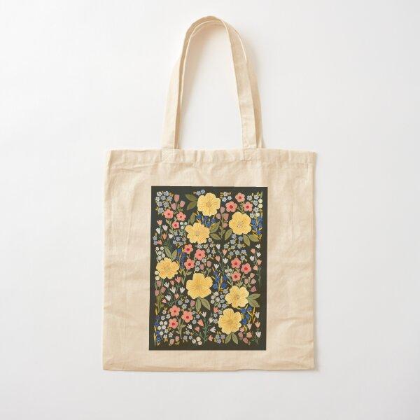 Flower Fields Cotton Tote Bag
