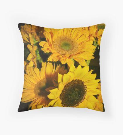 Sunflowers Pillow Throw Pillow