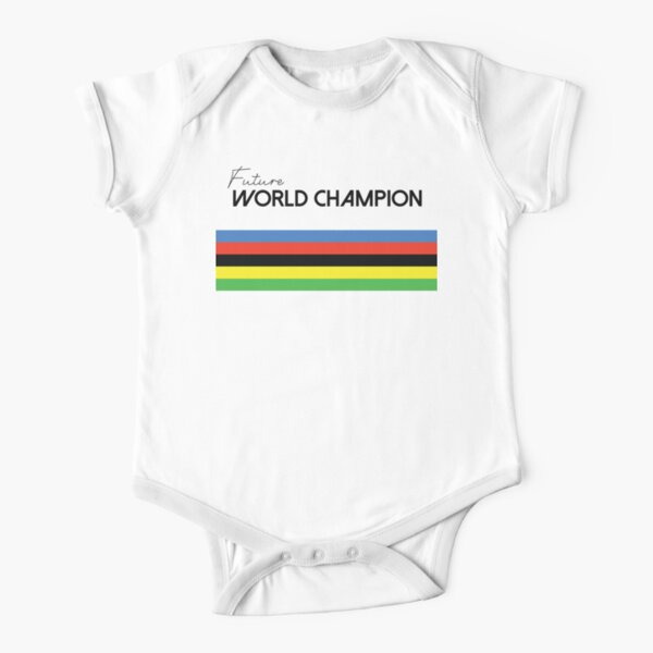 Future World Champion, Cycling, Bicycle Print for Kids & Baby  Short Sleeve Baby One-Piece