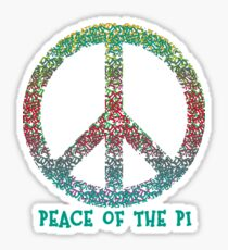 Peace of the Pi for Pi Day Sticker