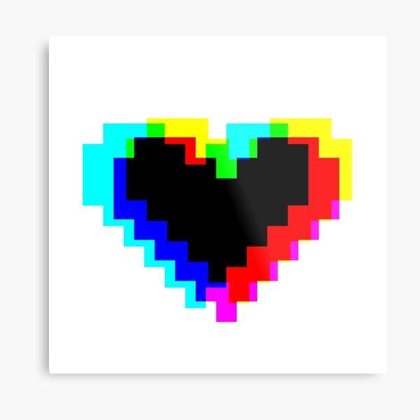 Heart so Pixel Metal Print